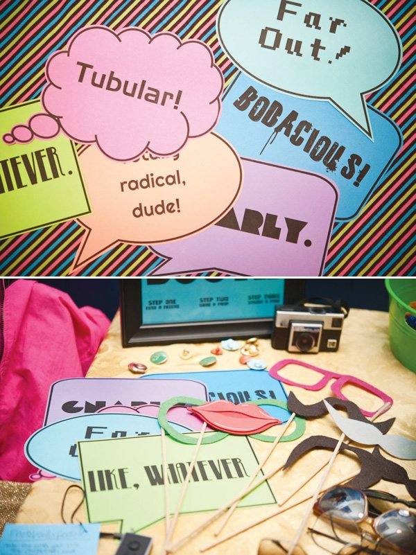 80s party ideas photo booth props