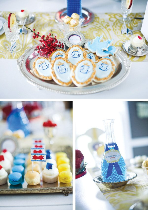 snow white fairy tale birthday party cookies and dessert trays