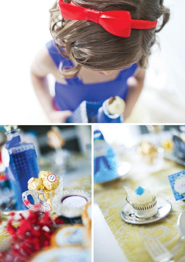 snow white fairy tale birthday party desserts