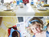 snow white fairy tale birthday party headbands and table decorations