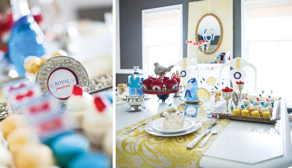 snow white fairy tale birthday party table decorations and dessert display