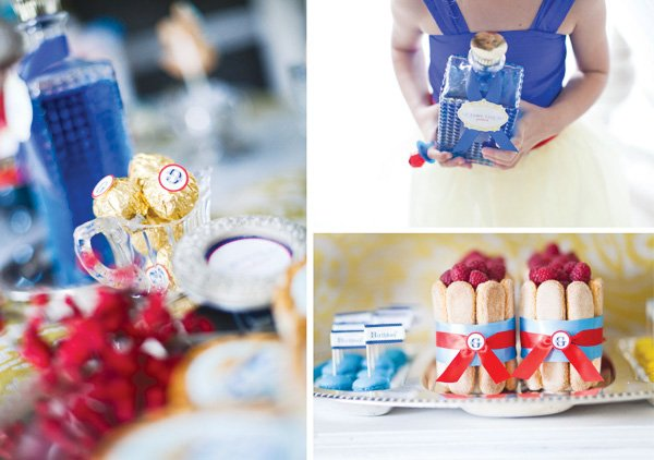 snow white fairy tale birthday party potion, desserts, and chocolates