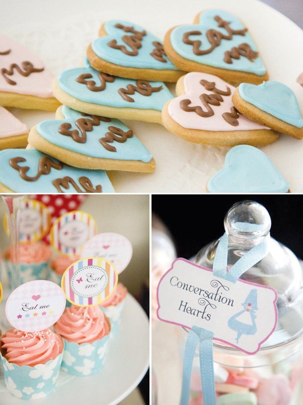 vintage alice in wonderland cookies and sweets