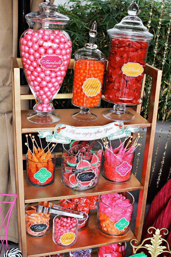 alice in wonderland candy station