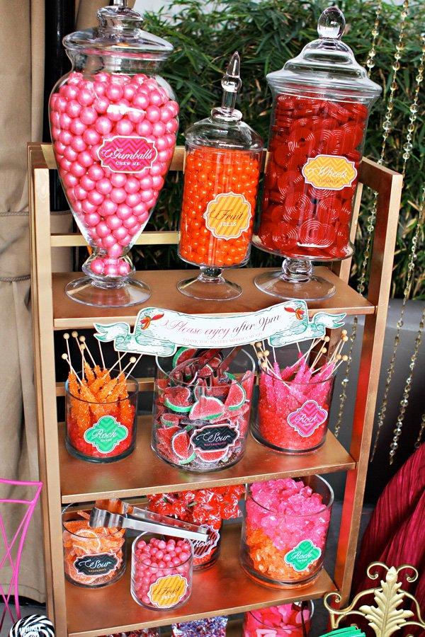 alice in wonderland candy station