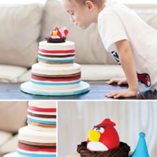 angry birds party cake
