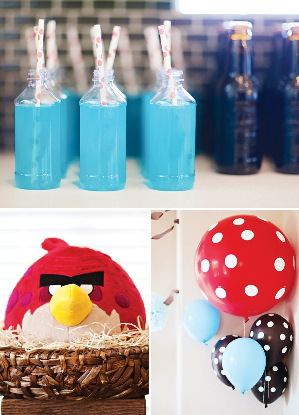 angry birds party blue drinks
