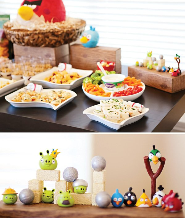 angry birds party food table