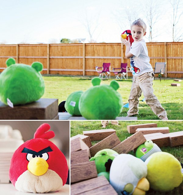 angry birds party outdoor backyard games