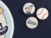 baseball birthday party pins