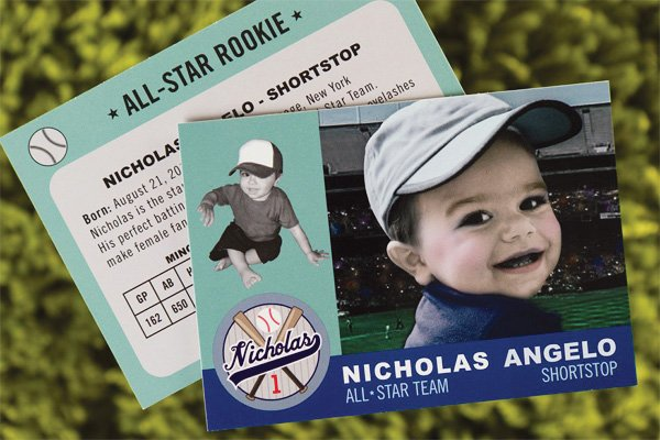 baseball birthday party invitations that look like trading cards