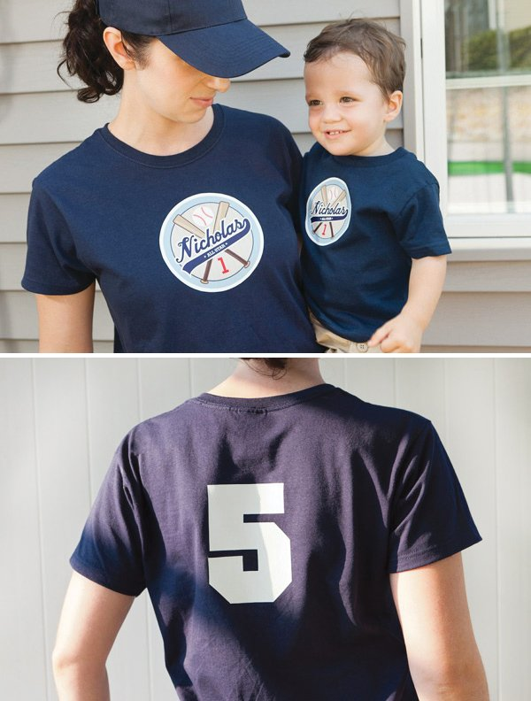personalized baseball t-shirts for a baseball birthday
