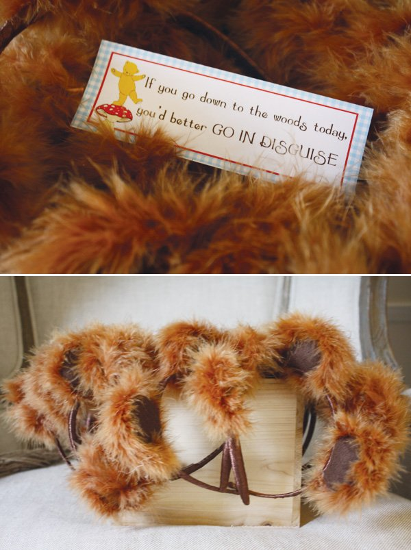 teddy bear picnic birthday party bear ear disguises