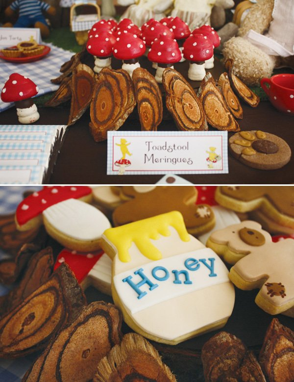teddy bear birthday party honey cookies