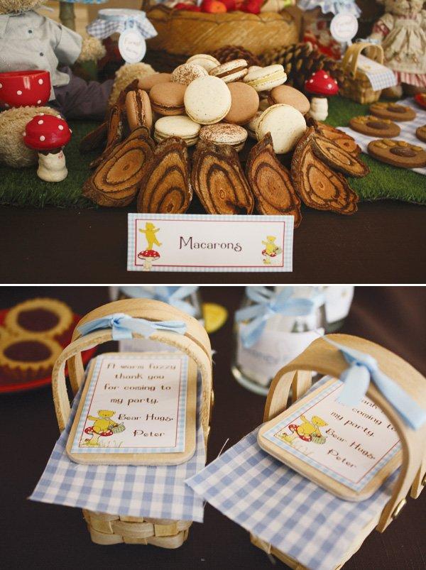 teddy bear picnic birthday party picnic basket favors
