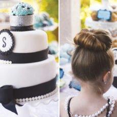 Breakfast at Tiffany's Birthday Party Cake