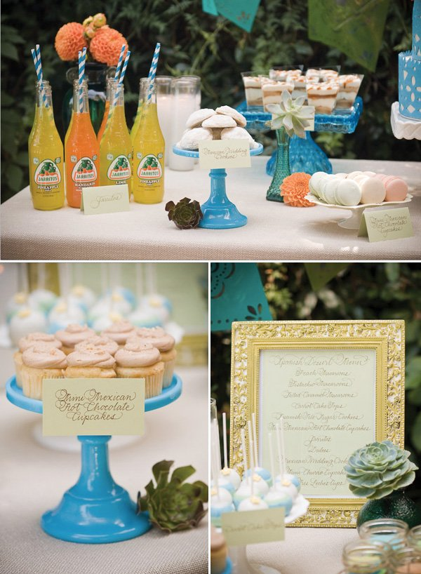 cinco de mayo sweets table jarritos and mexican hot chocolate cupcakes