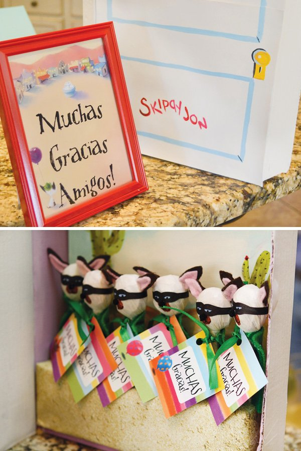 colorful mexican fiesta party favors