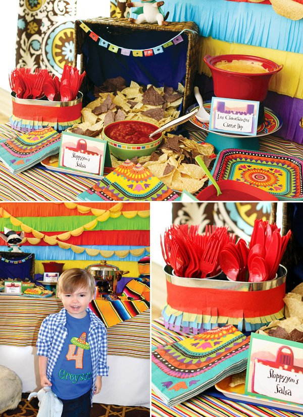 colorful mexican fiesta party salsa
