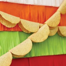 colorful mexican fiesta party taco bunting