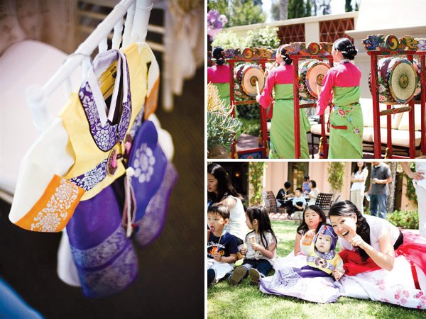 traditional Korean Dol first birthday party activities