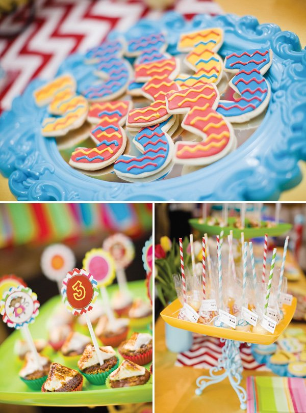 curious George party dessert table sweets