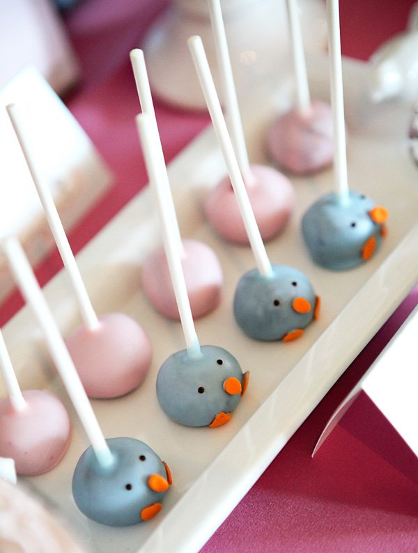cute birdie cake pops
