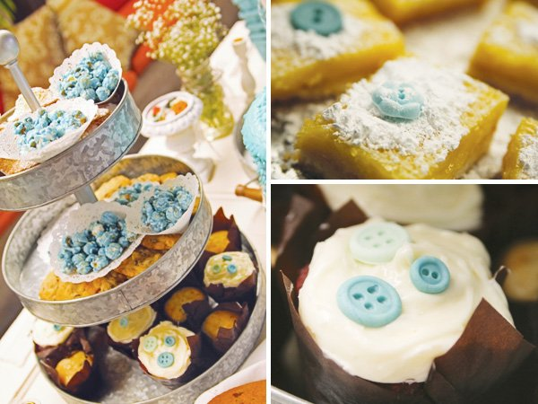 cute as a button vintage birthday party desserts