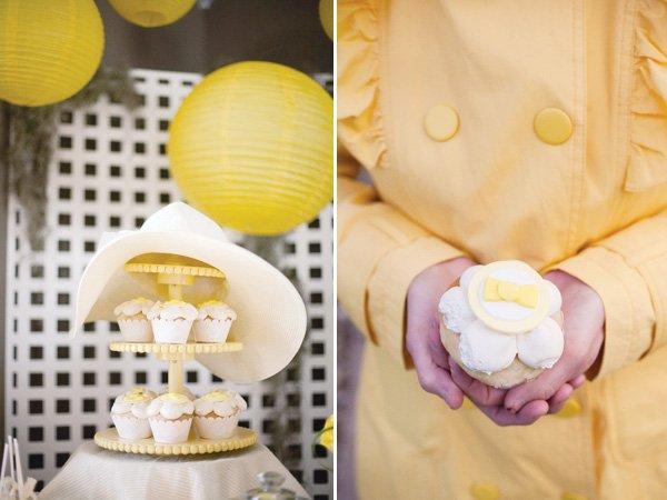 yellow kentucky derby fundraiser cupcakes