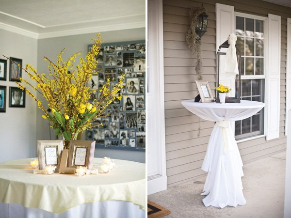 kentucky derby fundraiser party with yellow decorations