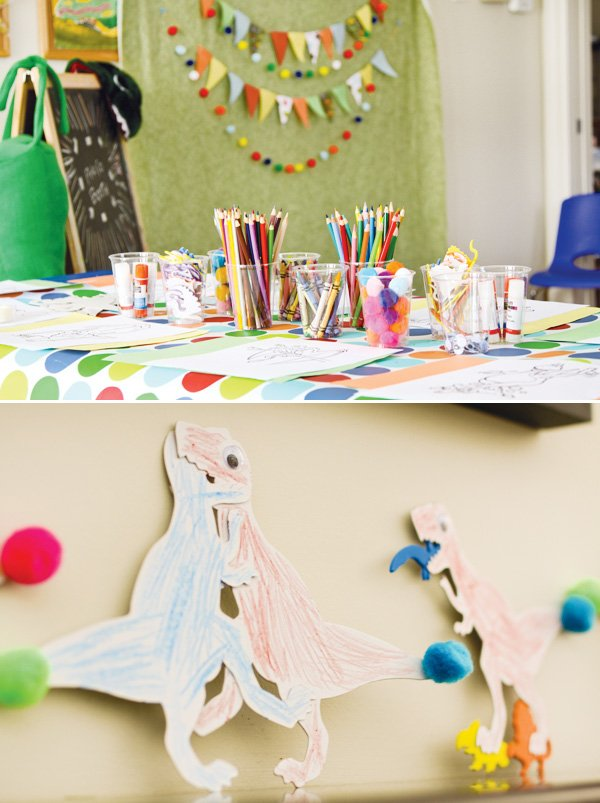 dino party arts and crafts