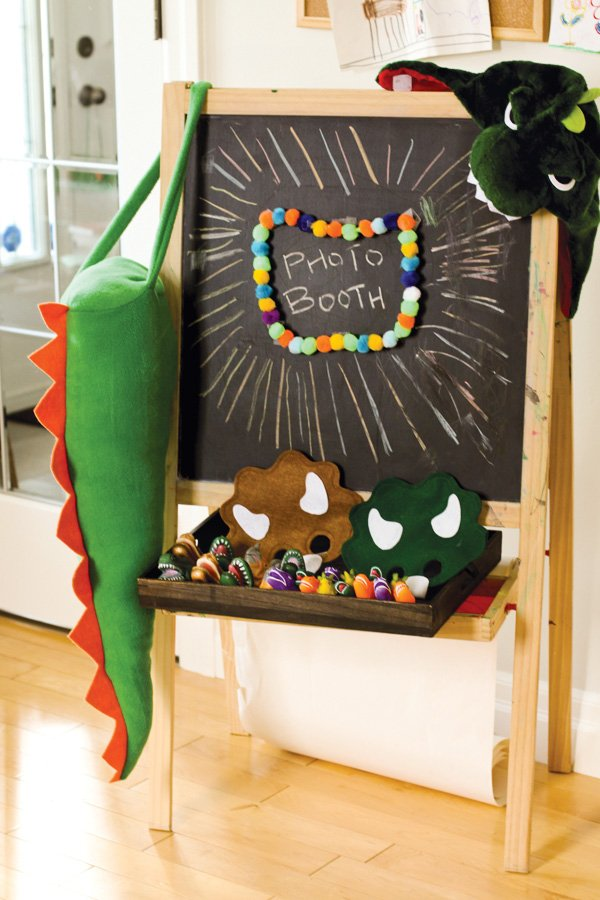 dinosaur party photo booth props