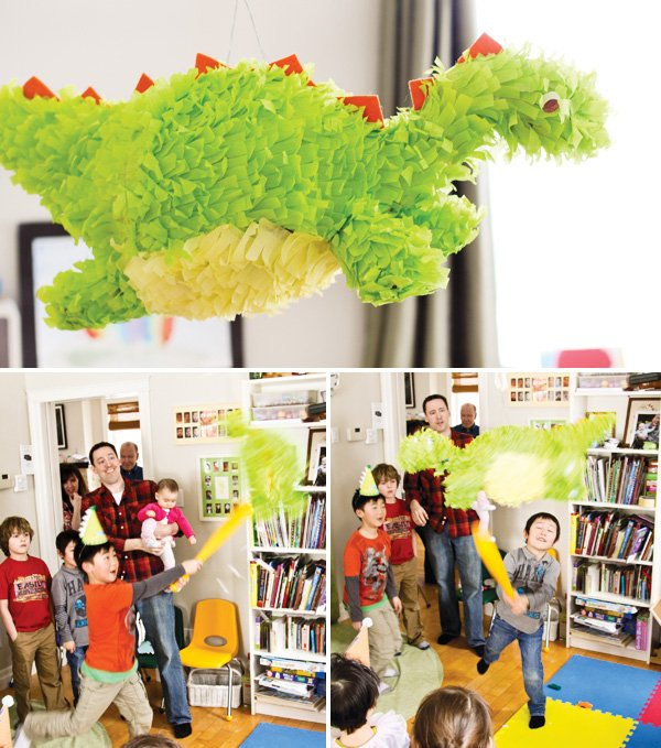 dinosaur party pinata