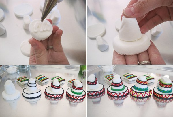 diy tutorial for cinco de mayo sombrero marshmallow toppers