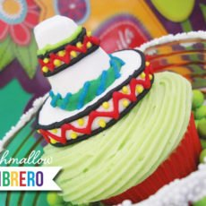 sombrero marshmallow toppers for cinco de mayo cupcakes