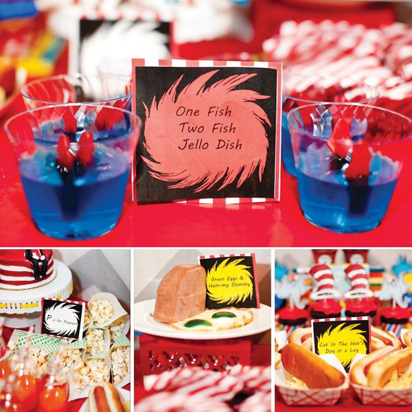 Bright Whimsical Dr Seuss Birthday Party Hostess with the Mostess