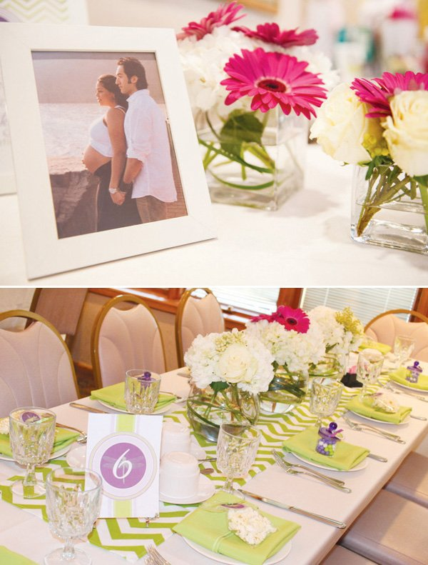 dragonfly baby shower table setting