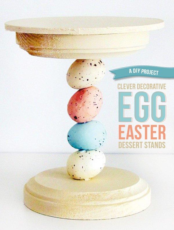 DIY Tutorial: Decorative Egg Easter Dessert Stands