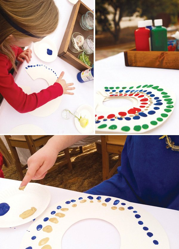 egyptian party finger painting costume necklace activity