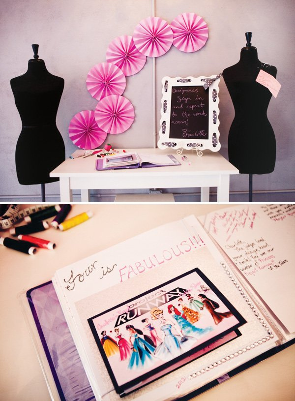 fashion show princess party guestbook