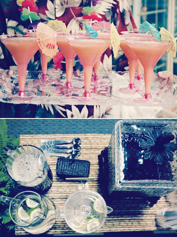 hawaiian luau dinner cocktails