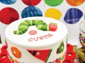 hungry caterpillar birthday party cake