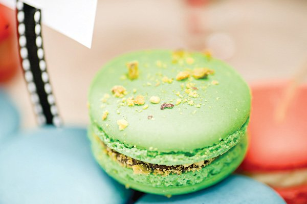 hungry caterpillar birthday party with macaroons