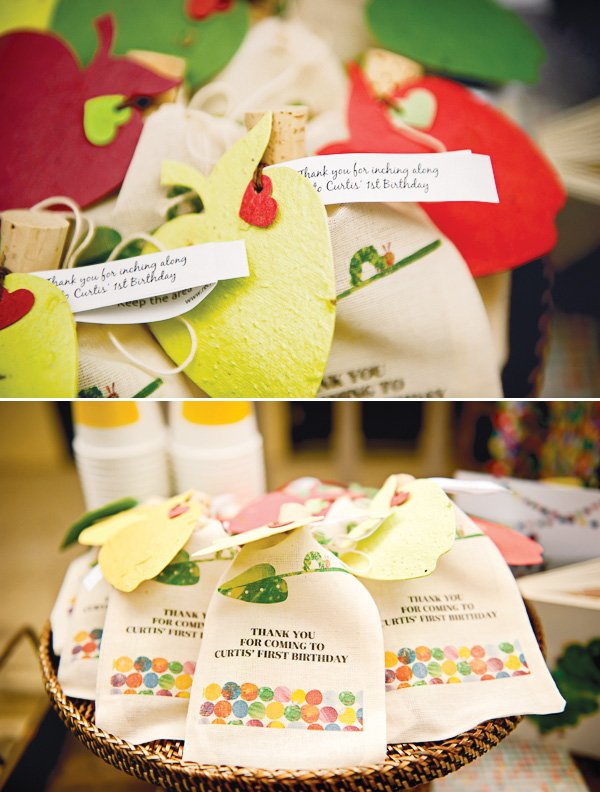 hungry caterpillar birthday party thank you favors
