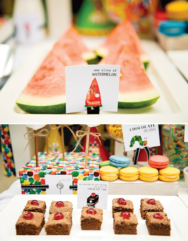 hungry caterpillar birthday party watermelon