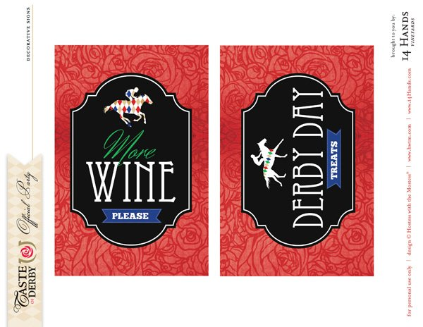 kentucky derby printables 4x6 signs