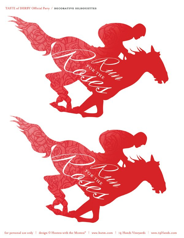kentucky derby printables large red horses