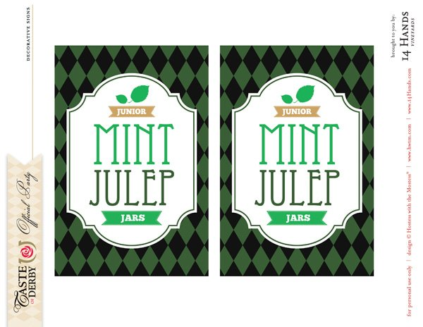 kentucky derby printables junior mints