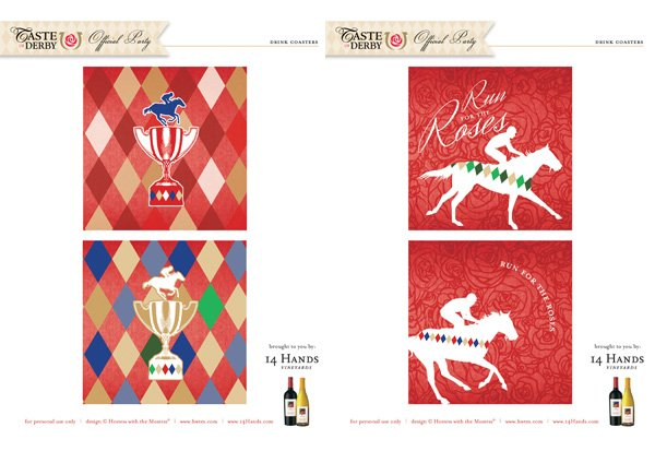 kentucky derby printables coasters
