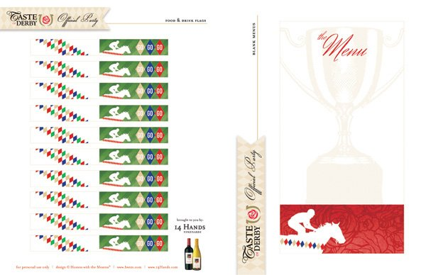 kentucky derby printables flags menus